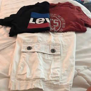 Levi's Shirts & Tops - Boys Levi's bundle .. size 10/M. Shorts 2 t-shirts